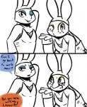 2017 anthro blowing_kiss blush bunny_costume clothed clothing comic costume crossdressing dialogue duo english_text eyeshadow fake_ears fake_rabbit_ears freckles hand_behind_head inkyfrog leonardo_(tmnt) lipstick looking_at_viewer makeup male michelangelo_(tmnt) one_eye_closed partially_colored pose reptile scalie shell shirt_cuffs simple_background smile sweat sweatdrop teenage_mutant_ninja_turtles text turtle white_background winkRating: SafeScore: 3User: JAKXXX3Date: August 16, 2017