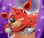 2017 animatronic canine digital_media_(artwork) eye_patch eyewear five_nights_at_freddy's fox foxy_(fnaf) hook machine mammal riza robot solo video_games
