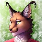 abstract_background anthro aster_(aeruginis) bust_portrait caracal clothed clothing conditional_dnp digital_media_(artwork) ear_tuft feline front_view fully_clothed looking_at_viewer male mammal portrait ratte shirt solo tuft whiskers