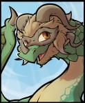 dragon female fur nexivian open_mouth rune_factory scalie smile solo ventuswill wyvern