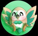 2016 alpha_channel ambiguous_gender avian bird blush feral freeze-pop88 nintendo open_mouth owl pokémon pokémon_(species) rowlet simple_background solo video_gamesRating: SafeScore: 5User: Freeze-pop88Date: May 20, 2016