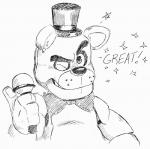 animatronic anthro bear blubot digital_media_(artwork) english_text five_nights_at_freddy's freddy_(fnaf) hat hi_res machine mammal one_eye_closed robot simple_background sketch solo text top_hat video_games white_background winkRating: SafeScore: 5User: Rysaerio-MisoeryDate: March 31, 2017