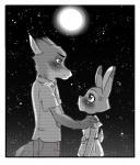 2017 anthro canine clothing comic disney female fox fur judy_hopps lagomorph male mammal moon nacchan96 nick_wilde night rabbit zootopiaRating: SafeScore: 4User: Rysaerio-MisoeryDate: October 19, 2017
