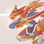ancesra anthro blue_eyes bone brown_hair canine clothed clothing eyewear fur goggles hair hat male mammal melee_weapon object_in_mouth orange_fur red_savarin scar simple_background solatorobo solo sword video_games weapon white_furRating: SafeScore: 4User: AncesraDate: April 02, 2018