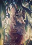 2016 aspeneyes bandanna brown_fur canine collie countershading detailed_background dog female feral freckles front_view fur looking_back mammal outside portrait raining solo sparkles tan_countershading water_drop willow_tree yellow_eyesRating: SafeScore: 2User: SnowWolfDate: January 23, 2018