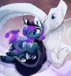 blue_eyes blue_fur cosmic_hair dragon eastern_dragon equine friendship_is_magic fur group horn magnaluna mammal my_little_pony princess_luna_(mlp) smile white_fur winged_unicorn wingsRating: SafeScore: 3User: MillcoreDate: June 27, 2017