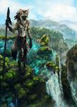 2014 aardwolf amazing_background anthro clothed clothing day detailed_background feather_in_hair feathers fur hi_res hyena jewelry loincloth male mammal melee_weapon murashu nature necklace outside polearm sky solo staff tan_fur tatchit topless tribal water waterfall weaponRating: SafeScore: 5User: MillcoreDate: August 18, 2017