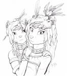anthro cat clothed clothing crown feathers feline female fuzzbums hair jewelry looking_at_viewer mammal pen_(artwork) portrait traditional_media_(artwork) translucent transparent_clothing tribal