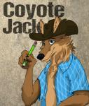 blue_eyes canine colored cowboy cowboy_hat coyote coyote_jack hat male mammal pencil_(disambiguation) solo westernRating: SafeScore: 0User: Coyote_JackDate: February 23, 2018