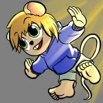 anthro barefoot comic feet grey_background luckymax2012 mammal mouse rodent shota simple_background soles young