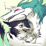 2015 <3 ambiguous_gender anthro blue_fur claws cute duo fur green_eyes hug low_res mammal markings open_mouth purple_fur rain_silves_the_2nd raised_tail sergal sharp_teeth size_difference somenity teeth tuft white_furRating: SafeScore: 83User: GameManiacDate: August 01, 2015