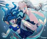 2016 anthro crossover duo female kemono mammal marine nintendo pinniped pokémon primarina sunnynoga tubukal_(character) underwater video_games water