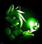 2013 ambiguous_gender anthro bangs canine fox green_theme light mammal muzz soloRating: SafeScore: 16User: BushyTailHuggerDate: August 07, 2013