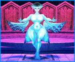 3d_(artwork) absurd_res big_breasts breasts digital_media_(artwork) featureless_breasts female fin fish hi_res kabalmystic_(artist) marine nintendo not_furry ocarina_of_time princess_ruto solo standing the_legend_of_zelda thick_thighs video_games webbed_feet
