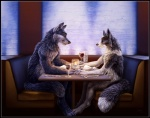 2012 alcohol anthro beverage biceps blue_eyes blue_fur candle canine claws cute date duo ear_piercing fangs female fluffy food fox fur grey_fur hand_holding love male mammal muscular nude piercing restaurant ring romantic romantic_ambiance romantic_couple sabretoothed_ermine scar sitting table toe_claws white_fur wine wolf yellow_eyesRating: SafeScore: 69User: TonyLemurDate: September 23, 2012