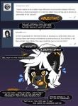 2017 anthro black_fur black_nose cat dialogue english_text feline female fluff-kevlar fur hair mammal solo text warning_(character) white_hair yellow_eyesRating: SafeScore: 14User: Asriel-AkitaDate: March 05, 2017