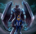 2017 >:) abs anthro arm_markings biceps black_skin blue_scales blue_skin claws cloud conditional_dnp digital_media_(artwork) digitigrade dragon duo featureless_crotch fog fur fur_markings furred_dragon glowing hands_on_hips horn leg_markings looking_at_viewer male markings membranous_wings muscular muscular_male nude outside pecs red_eyes reptile rubber scales scalie scar scratches shiny smile standing teryx_commodore triceps trunchbull white_markings white_scales white_skin wings yellow_eyes yellow_furRating: SafeScore: 4User: LizardthinkingDate: August 18, 2017