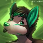 2014 abstract_background anthro black_fur black_hair bust_portrait canine cute dog embryll freckles fur green_background green_eyes green_fur green_hair green_nose green_theme hair horn husky icon looking_at_viewer male mammal multicolored_hair portrait simple_background solo tongue tongue_out two_tone_hair zeta-haruRating: SafeScore: 42User: *Sellon*Date: August 19, 2014