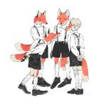 anthro canine clothed clothing fake_tail footwear fox group hands_behind_back human leaning leaning_forward legwear male mammal mask mucknagabe red_fox shoes simple_background socks standing suspenders white_background youngRating: SafeScore: 1User: spankweaselDate: January 23, 2018