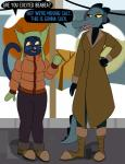 2017 alligator alternate_form anthro bea_(nitw) black_fur boots cat clothed clothing coat crocodilian dialogue digital_media_(artwork) ear_muffs english_text feline female footwear fully_clothed fur gloves half-closed_eyes happy hat jacket mae_(nitw) mammal mittens night_in_the_woods open_mouth open_smile outside parka pole raised_eyebrow reptile sarcasticcartoonist_(artist) scalie sidewalk smile speech_bubble standing teeth text tongue trenchcoat winterRating: SafeScore: 4User: WolfOfBladesDate: September 21, 2017