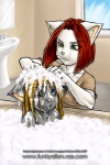 age_difference anthro bath bathroom blonde_hair blue_eyes bubble cat child cub duo felicia_nightshade feline female green_eyes hair keiron_white larger_female mammal one_eye_closed red_hair shampoo size_difference tabitha_nightshade unimpressed water youngRating: SafeScore: 3User: ToNicDate: August 26, 2009