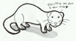 :3 <3 ambiguous_gender black_and_white claws cute dialogue english_text feral ferret full-length_portrait hi_res line_art looking_at_viewer mammal marker_(artwork) mixed_media monochrome mustelid pen_(artwork) pet portrait quadruped rarewarerat round_ears side_view simple_background solo standing territorial text the_truth toe_claws traditional_media_(artwork) whiskers white_background white_clawsRating: SafeScore: 51User: RevolutionXDate: June 29, 2013