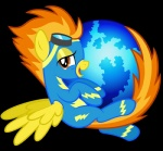 amber_eyes bodysuit clothing crossover equine eyewear feathered_wings feathers female feral firefox friendship_is_magic goggles hair internet mammal multicolored_hair my_little_pony parody pegasus skinsuit smile solo spitfire_(mlp) tight_clothing two_tone_hair tygerbug web_browser wings wonderbolts_(mlp) yellow_feathers