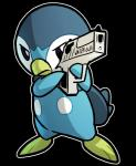 angry blitzdrachin gun nintendo piplup pokémon pokémon_(species) ranged_weapon reaction_image video_games weapon