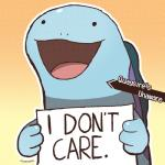 ambiguous_gender amphibian dogshaming dragonith english_text feral humor meme nintendo open_mouth pokémon pokémon_(species) pokéshaming quagsire reaction_image sign simple_background smile solo text video_games
