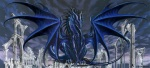amazing ambiguous_gender blue_body claws dark dragon feral horn membranous_wings perched ruins ruth_thompson scales scalie solo western_dragon wingsRating: SafeScore: 9User: SanGurdarDate: February 14, 2011