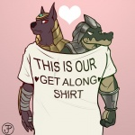 <3 anthro anubian_jackal armor brothers canine clothed clothing crocodile crocodilian diadorin duo egyptian jackal league_of_legends male mammal nasus_(lol) renekton reptile riot_games scalie sibling simple_background standing video_gamesRating: SafeScore: 9User: Cat-in-FlightDate: April 23, 2017