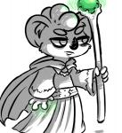 2017 anthro cape clancy_(inkyfrog) clothed clothing disney fan_character holding_object inkyfrog koala magic male mammal marsupial restricted_palette robe simple_background solo staff white_background zootopiaRating: SafeScore: 1User: JAKXXX3Date: February 22, 2017