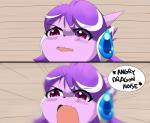 angry anthro blush comic dragon female freedom_planet freedom_planet_2 hair horn kenjikanzaki05 meme open_mouth purple_eyes purple_hair reaction_image sash_lilac solo text video_games