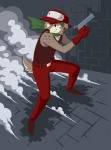 2010 analon_(artist) anthro canine cave_story clothed clothing fully_clothed gun hat holding_object holding_weapon male mammal pants quote_(cave_story) ranged_weapon shirt solo tank_top video_games weaponRating: SafeScore: 2User: RiversydeDate: July 01, 2010