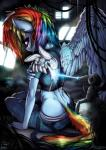 absurd_res anthro blue_feathers clothed clothing detailed_background equine feathered_wings feathers fidzfox friendship_is_magic hair hi_res mammal multicolored_hair my_little_pony pegasus prosthetic rainbow_dash_(mlp) solo wingsRating: SafeScore: 25User: JGG3Date: May 14, 2016
