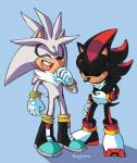 anthro bdugo7 clothing eyes_closed gloves group hedgehog male mammal shadow_the_hedgehog silver_the_hedgehog sonic_(series)