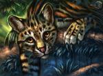 2017 amber_eyes ambiguous_gender claws day digital_media_(artwork) feline feral flashw forest fur mammal ocelot outside paws solo spots spotted_fur tree whiskersRating: SafeScore: 4User: MillcoreDate: December 11, 2017
