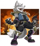 anthro armor avian canine claws clothing falco_lombardi fox fox_mccloud fur gloves grey_fur jewelry laugh male mammal necklace nemurism nintendo parody shoulder_guards smile solo standing star_fox super_smash_bros video_games wolf wolf_o'donnell wryyyyyyyyyyyyyyyyyyyyRating: SafeScore: 16User: Kitsu~Date: August 07, 2009