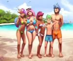 2018 aged_up alternate_species beach bikini breasts clothing dark_skin darkhazard digital_media_(artwork) eyewear feathered_wings feathers female fluttershy_(mlp) friendship_is_magic green_eyes group hair hand_behind_back hi_res human humanized humanoid humanoidized long_hair looking_at_viewer male mammal multicolored_hair my_little_pony navel not_furry one_eye_closed outside pink_hair rainbow_dash_(mlp) scootaloo_(mlp) seaside shining_armor_(mlp) small_breasts spike_(mlp) standing sunglasses swimsuit v_sign winged_humanoid wings wink youngRating: SafeScore: 10User: lemongrabDate: June 18, 2018