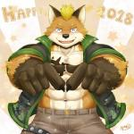 2018 abs anthro biceps big_muscles canine clothing fox fur hi_res male mammal muscular muscular_male naruever pecs soloRating: SafeScore: 1User: Rysaerio-MisoeryDate: January 03, 2018