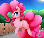 2017 blue_eyes cutie_mark day detailed_background digital_media_(artwork) equine female feral friendship_is_magic hair horse madacon mammal my_little_pony outside pink_hair pinkie_pie_(mlp) sky smile soloRating: SafeScore: 2User: MillcoreDate: October 23, 2017