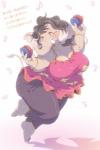 anthro black_hair dancing elephant eyes_closed female hair japanese_text kemono long_hair mammal onda_seki open_mouth solo text translatedRating: SafeScore: 7User: GONE_FOREVERDate: July 23, 2015