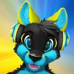2014 anthro blue_eyes bust_portrait canine digital_media_(artwork) fox fur hair happy headphones icon jamesfoxbr looking_at_viewer male mammal open_mouth portrait simple_background smile solo teeth tongue wolfRating: SafeScore: 23User: jamesfoxbrDate: September 04, 2014