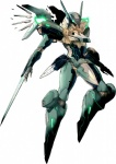 absurd_res ambiguous_gender blade glowing glowing_eyes green_eyes hi_res jehuty konami machine mecha not_furry robot simple_background smaller_version_at_source solo standing unknown_artist weapon white_background wings zone_of_the_enders