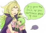 ... animal_humanoid blonde_hair cape clothed clothing comic daughter dragon dragon_humanoid duo english_text eyes_closed female fire_emblem fire_emblem_awakening fully_clothed green_hair hair humanoid humor manakete mother nah_(fire_emblem) nintendo not_furry nowi parent pointy_ears purple_eyes simple_background text unknown_artist video_games white_background