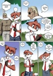 anthro blonde_hair canine chochi clothing comic dialogue digital_media_(artwork) duo english_text fox hair human inviting jacket lovely_pets male mammal mike_blade necktie solo_focus text treeRating: SafeScore: 18User: MDBDate: November 09, 2009