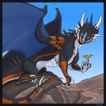 aquanite avian bird digitigrade dnk dnk-anais dragon female feral membranous_wings scales scalie solo western_dragon wings