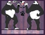 anthro bear chubchow digital_media_(artwork) flynn_calloway looking_at_viewer male mammal multiple_angles musclechub muscular muscular_male panda slightly_chubby soloRating: SafeScore: 1User: Panda_PaladinDate: June 19, 2018