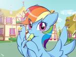 2017 blush building cloud cute eating equine eyelashes feathered_wings feathers female flower food friendship_is_magic haden-2375 hair house looking_at_viewer mammal multicolored_hair my_little_pony nom om_nom_nom outside pegasus plant popsicle purple_eyes rainbow_dash_(mlp) rainbow_hair shrub sky solo spread_wings sunlight text town wings