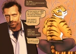 anthro dreamworks duo feline female gregory_house house.m.d. human humor kung_fu_panda mammal master_tigress shanbazall tiger
